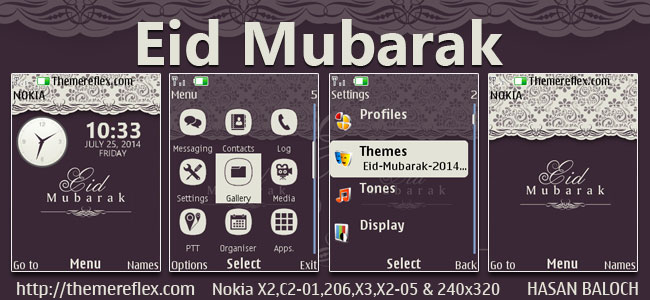 Eid Mubarak Themes for Nokia X2