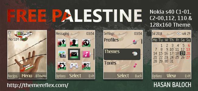 Free Palestine Nokia C1 Themes