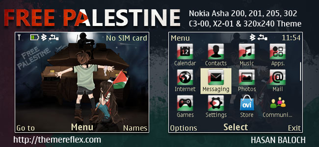 Free Palestine Nokia C3 Themes