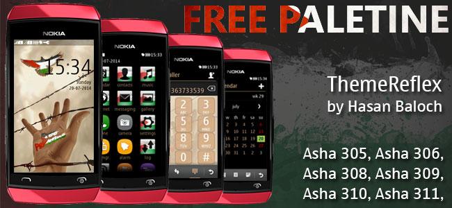 Free Palestine Nokia full touch theme