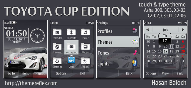 Toyota Cup Edition Theme for Nokia X2