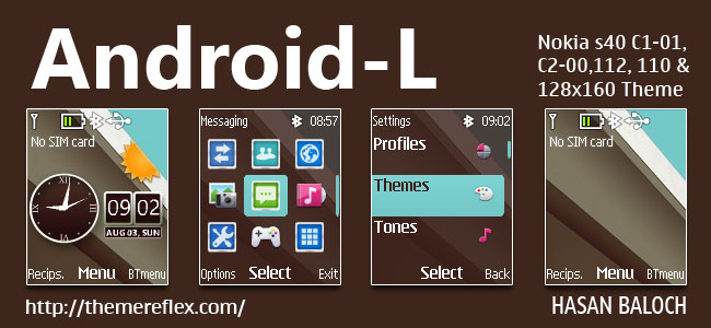 Android-L Live Theme for Nokia C1-01, C1-02, C2-00, 107, 108, 109, 110, 111, 112, 113, 114, 2690 & 128×160 Devices