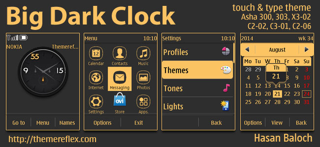 Big Analog Clock Theme