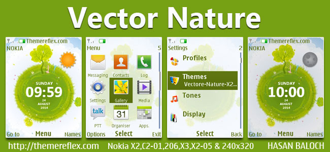Vector Nature Theme for Nokia
