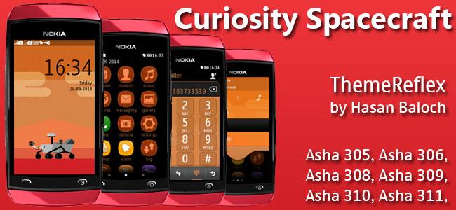 Curiosity Spacecraft Theme for Nokia Asha 305, Asha 306, Asha 308, Asha 309, Asha 310, Asha 311 and full touch Devices