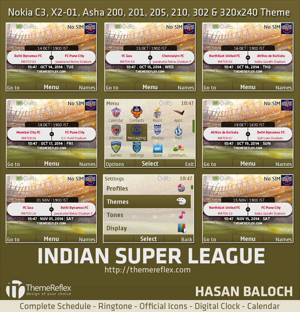Indian Super League Themes