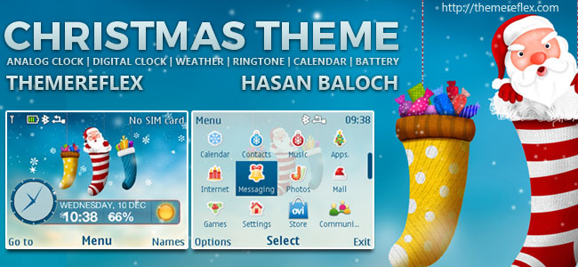 Christmas 2014 Live Theme for Nokia C3-00, X2-01, Asha 200, 201, 205, 210, 302 & 320×240 Devices