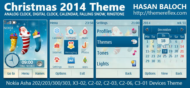 Christmas 2014 Live Theme for Nokia Asha 202/203/300/303, X3-02, C2-02, C2-03, C2-06, C3-01 & Touch & Type Devices