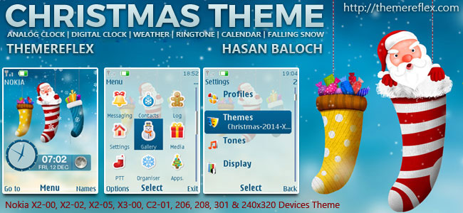 Christmas 2014 Live Theme for Nokia X2-00, X2-02, X2-05, X3-00, C2-01, 206, 208, 301, 2700 & 240×320 Devices
