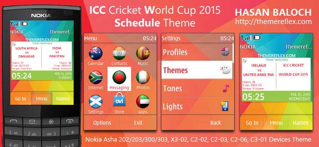ICC Cricket World Cup Schedule Themes