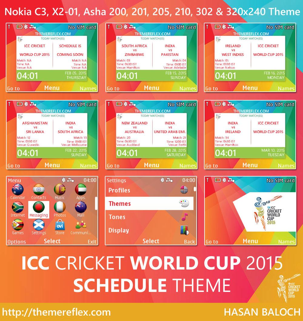 ICC Cricket World Cup Schedule