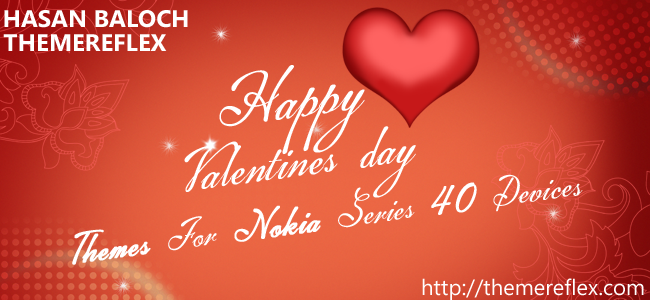 Happy Valentine's Day Theme for Nokia Series 40 Devices