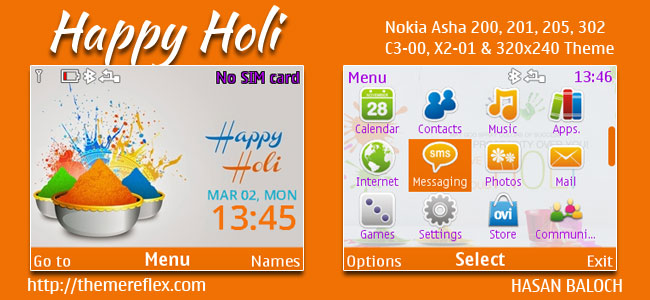 Happy Holi C3 Theme