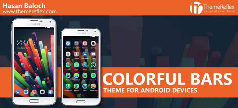Colorful Bars Theme for Nokia X, Nokia XL, Samsung, Samsung Galaxy, Samsung Star, Google, Google Nexus, Sony Xperia, Q-Mobile, HTC, Huawei, LG G2, LG & Other Android Devices