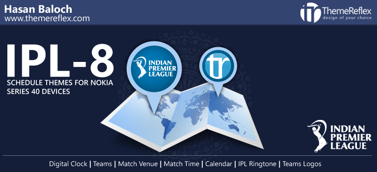 Indian Premier League 8 Schedule Themes for Nokia Series 40 Devices