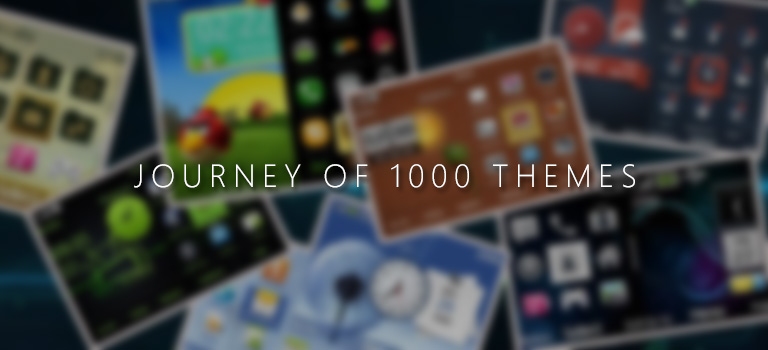 The journey of 1000 mobile themes and counting
