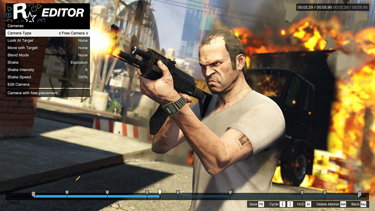 The Rockstar Editor for 'GTA V' is coming on consoles after all