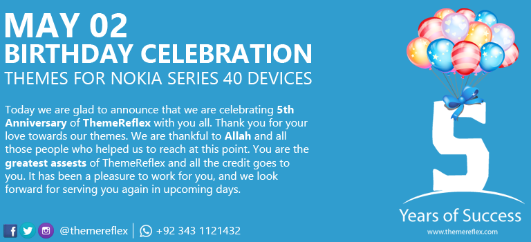 Happy Birthday ThemeReflex Themes for Nokia Series 40 Devices
