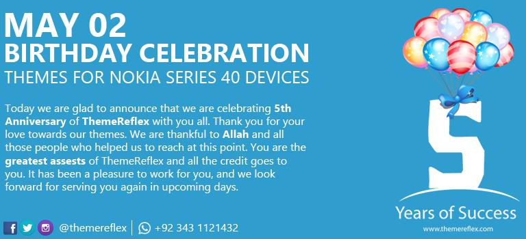 Happy Birthday ThemeReflex Themes for Nokia Series 40 Devices