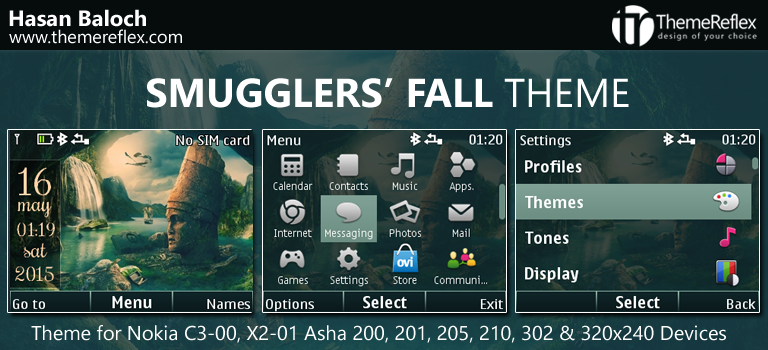 Smugglers Fall Theme for Nokia C3-00, X2-01, Asha 200, 201, 205, 210, 302 & 320×240 Devices