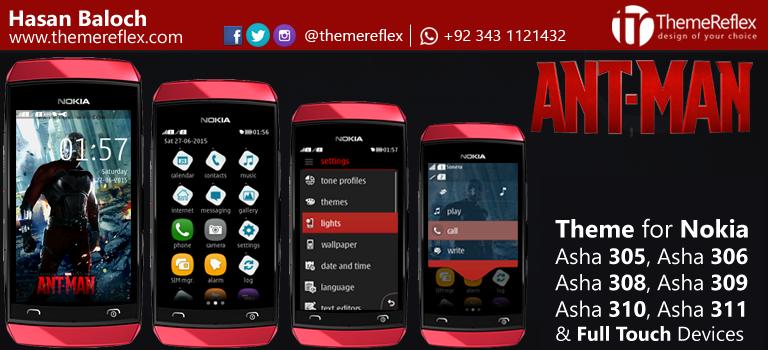 Ant-Man Theme for Nokia Asha 305, Asha 306, Asha 308, Asha 309, Asha 310, Asha 311 adn Full Touch Devices