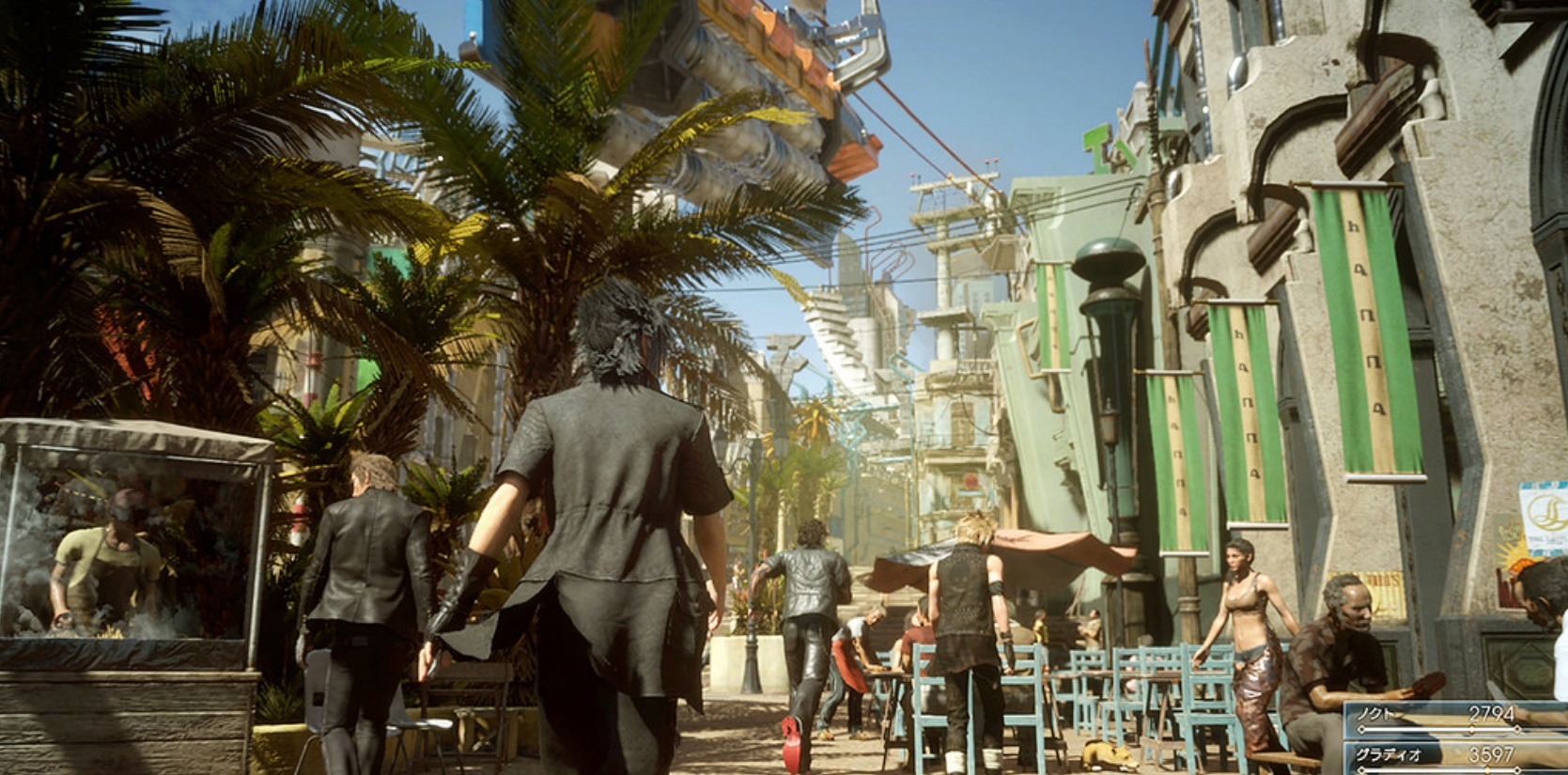 final-fantasy-xv-town-npcs-palm-trees-gameplay-screenshot-ps4-xbox-one