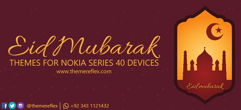 Eid Mubarak 2015 Live Theme for Nokia Series 40 Devices