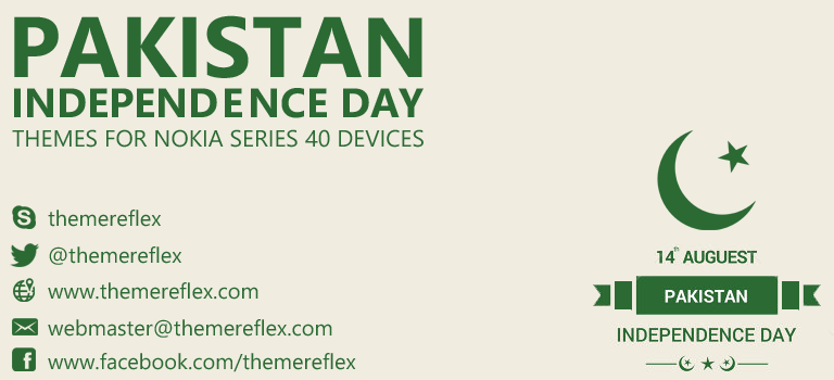 Pakistan Independence Day Themes for Nokia Series 40 Devices