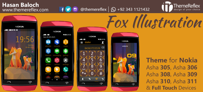 Fox Illustration Theme for Nokia full Touch Devices