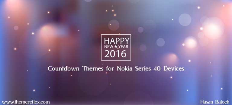 Happy New Year 2016 Countdown Themes for Nokia Series 40 Devices