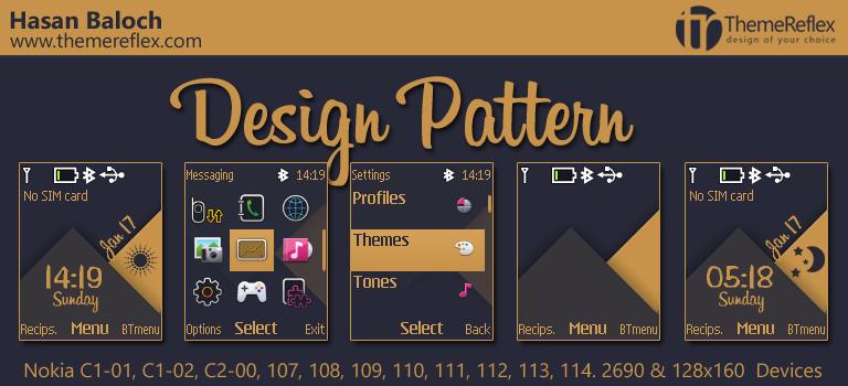 Design Pattern Theme for Nokia C1-01, C1-02, C2-00, 107, 109, 111, 2690 & 128×160 Devices