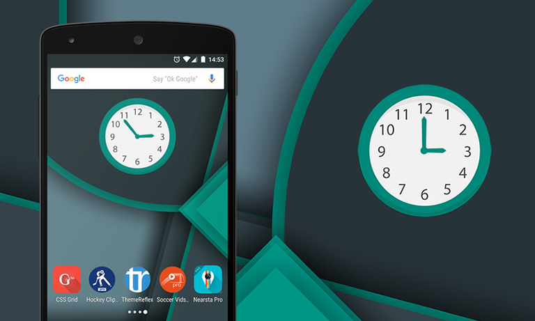 multicolor-clock-android-widget-themereflex-f2