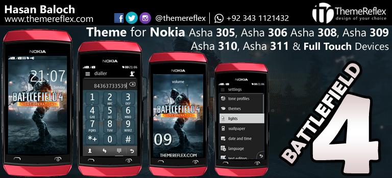 Battlefield 4 Theme for Nokia Asha 305, Asha 306, Asha 308, Asha 309, Asha 310, Asha 311