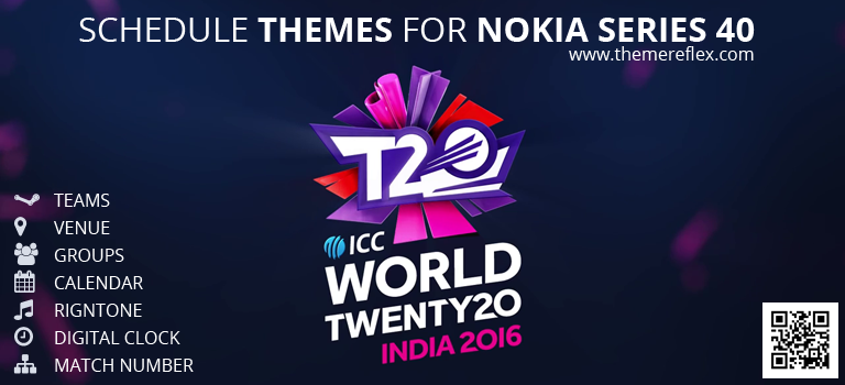 ICC World T20 Schedule Themes for Nokia Series 40 Devices