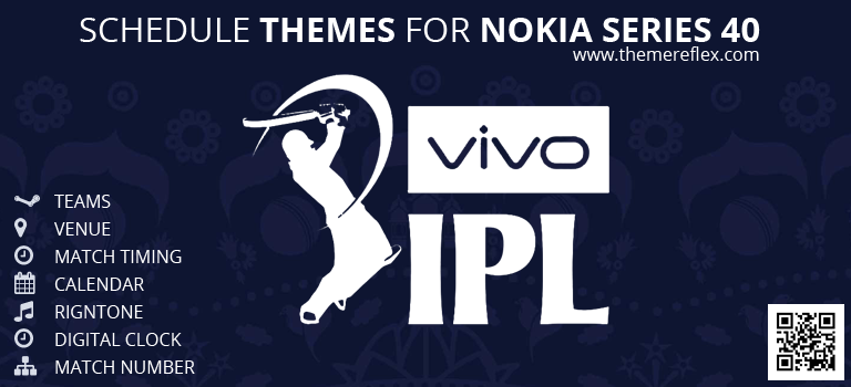 IPL Season 9 Schedule Theme for Nokia Series 40 Devices