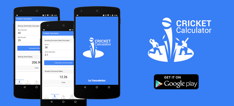 Cricket Calculator – Android app for cricket lovers