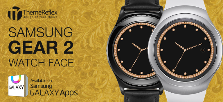 Golden Diamond Samsung Gear S2 Watch Face