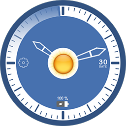 Blue live watch face for Samsung GearS3 and Samsung GearS2