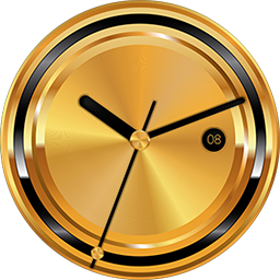 TRG21 Gold smartwatch face for Samsung Gear S3 and Samsung Gear S2