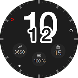 Incubito smartwatch face for Samsung Gear S3 and Samsung Gear S2