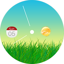 Nature live watch face for Samsung GearS3 and Samsung GearS2
