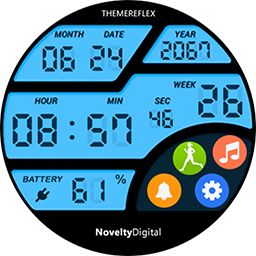 Novelty Digital Sport watch face for Samsung GearS3 and GearS2