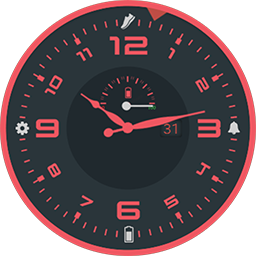 Sleek Red watch face for Samsung Gear S3 and Samsung Gear S2