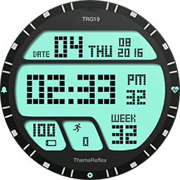 TRG Military smartwatch face for Samsung GearS3 and Samsung GearS2