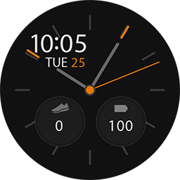 TRG24 – Blackey smartwatch face for Samsung GearS3 and GearS2