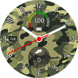 TRG Military Zone smartwatch face for Samsung GearS3 and GearS2