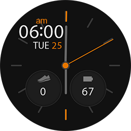TRG Blackey 12 hours smartwatch face for Samsung GearS3 and GearS2