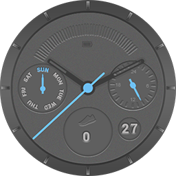 TRG ChronoGuns smartwatch face for Samsung GearS3 and GearS2