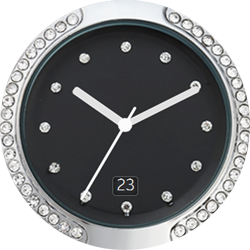 TRG Black Fashion watch face for Samsung GearS2 and GearS3