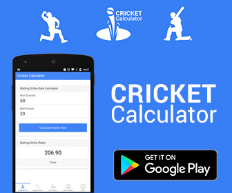 Cricket Calculator Android App